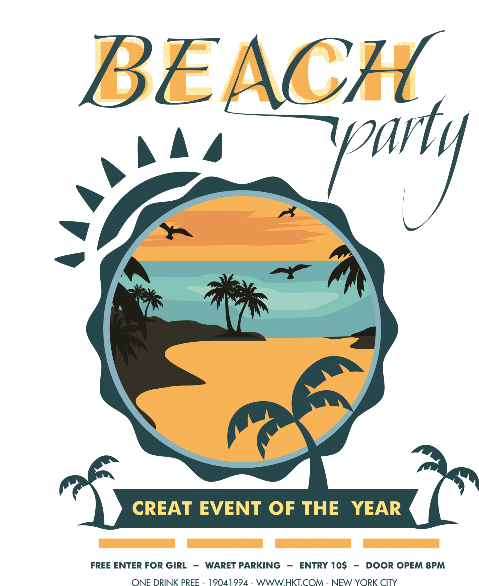 Beach Party PNG Image