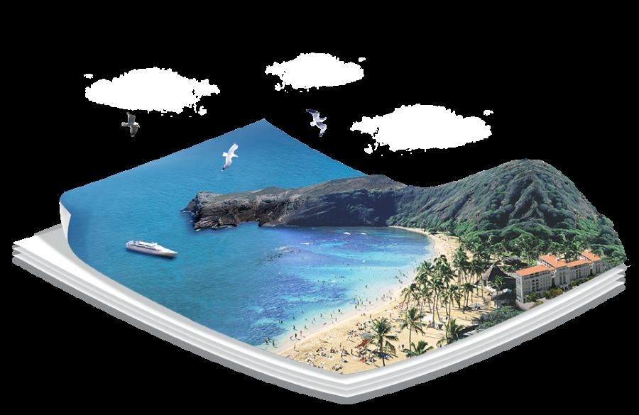 3-D Beach PNG Image