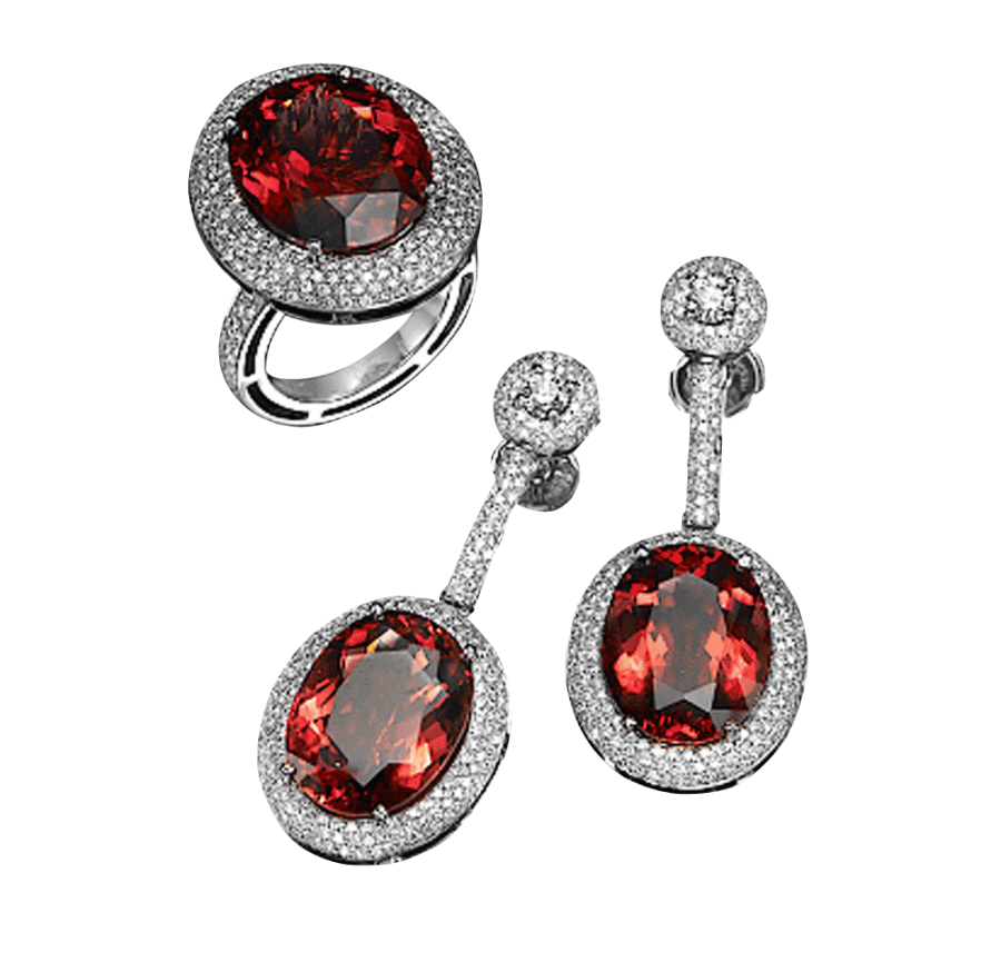 Beautiful Earrings and Ring PNG Image