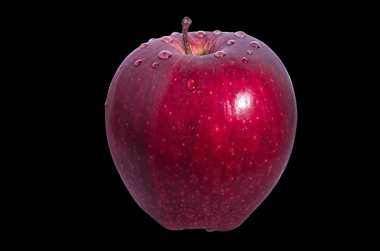 Big Red Apple PNG Image