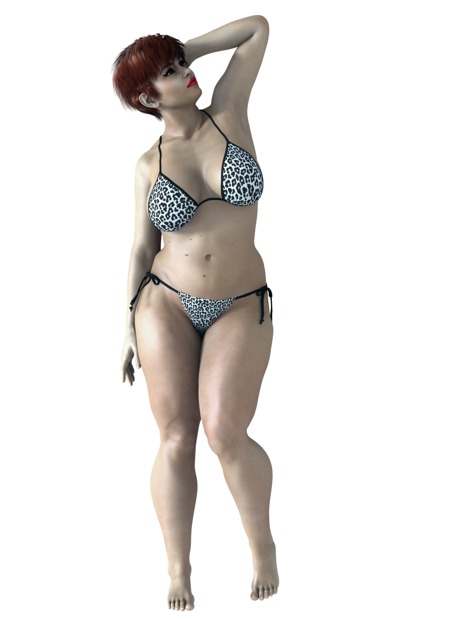 Rendered Fat Woman in Bikini PNG Image