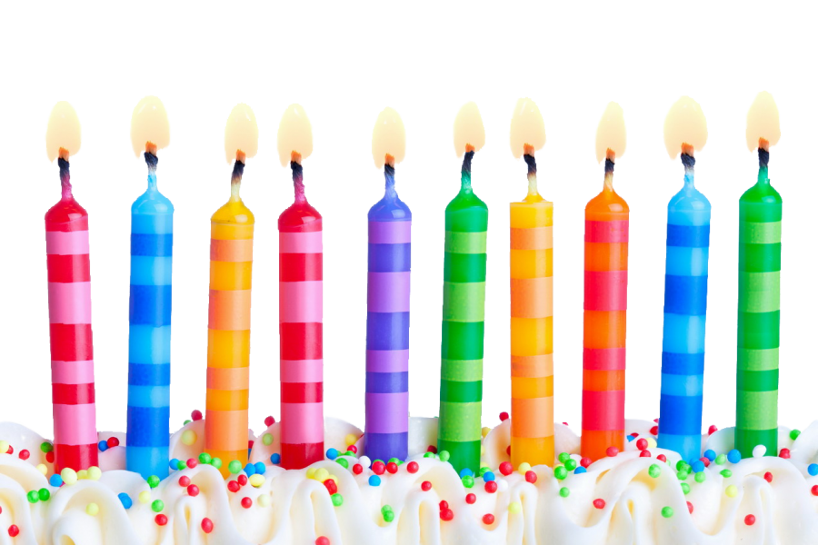Birthday Candles PNG Image