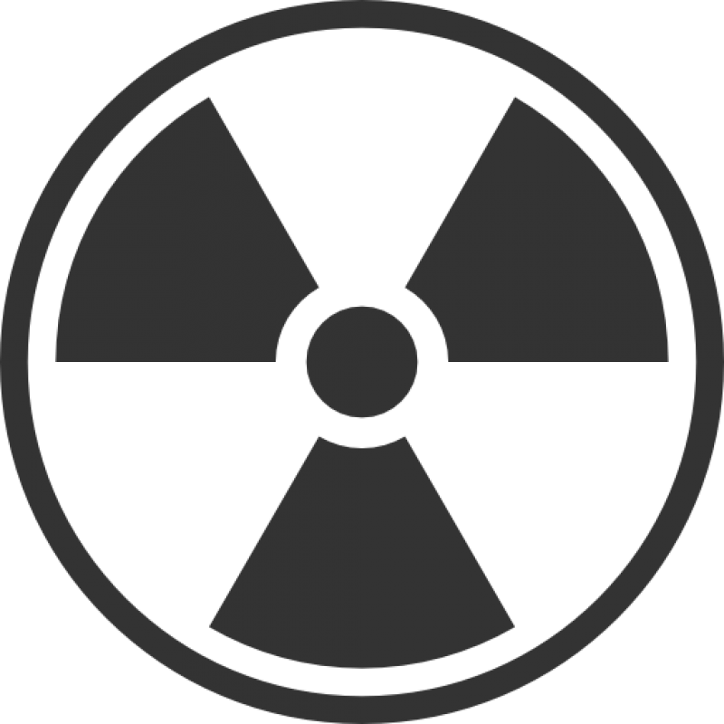 Black And White Radiation Symbol PNG Image