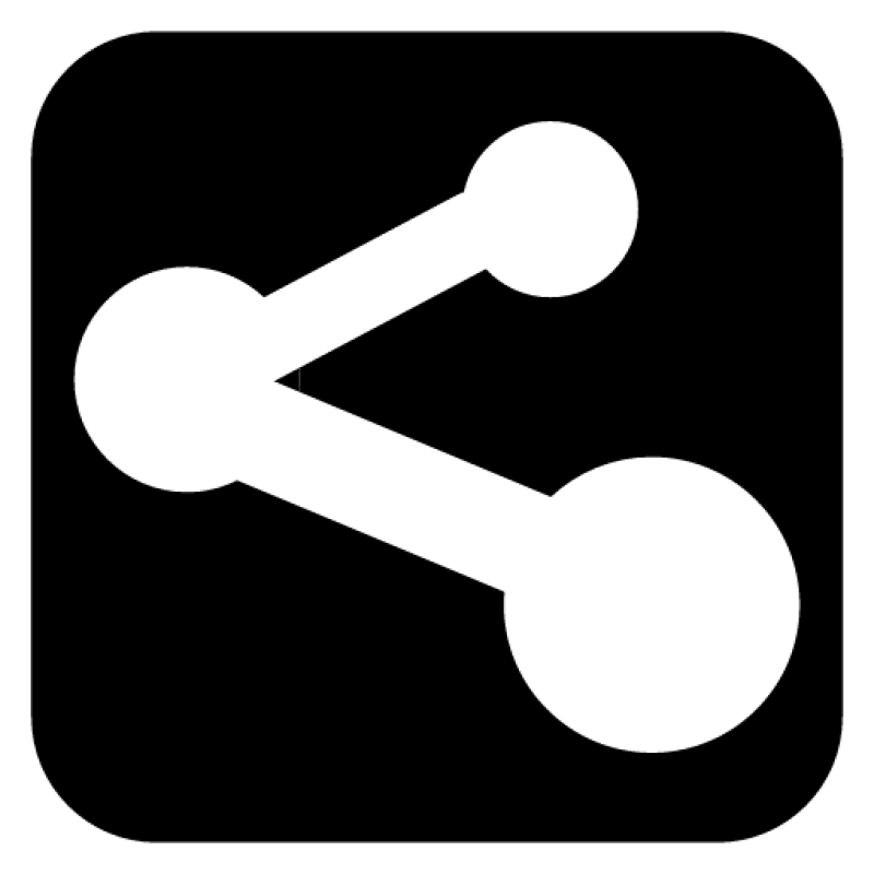 Black and White Share Icon PNG Image