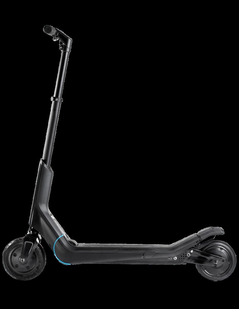 Black Modern E-Scooter Organic Design PNG Image