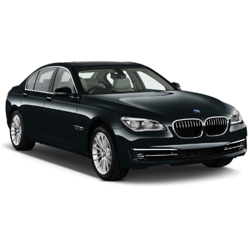 Black Sapphire Metallic BMW 7 Sedan 2013 Car PNG Image