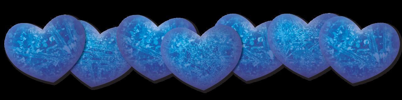 Blue Color Hearts PNG Image