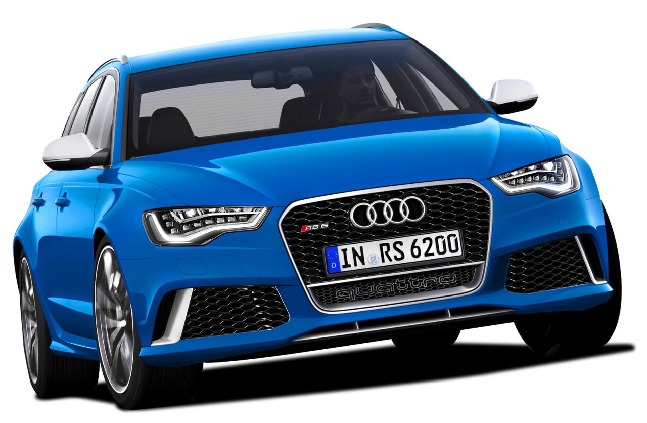 Blue Edition  Audi Luxury Car PNG Image