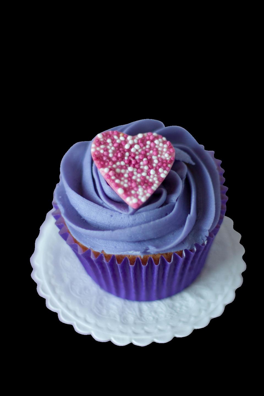 Blue Velvet Cupcake PNG Image