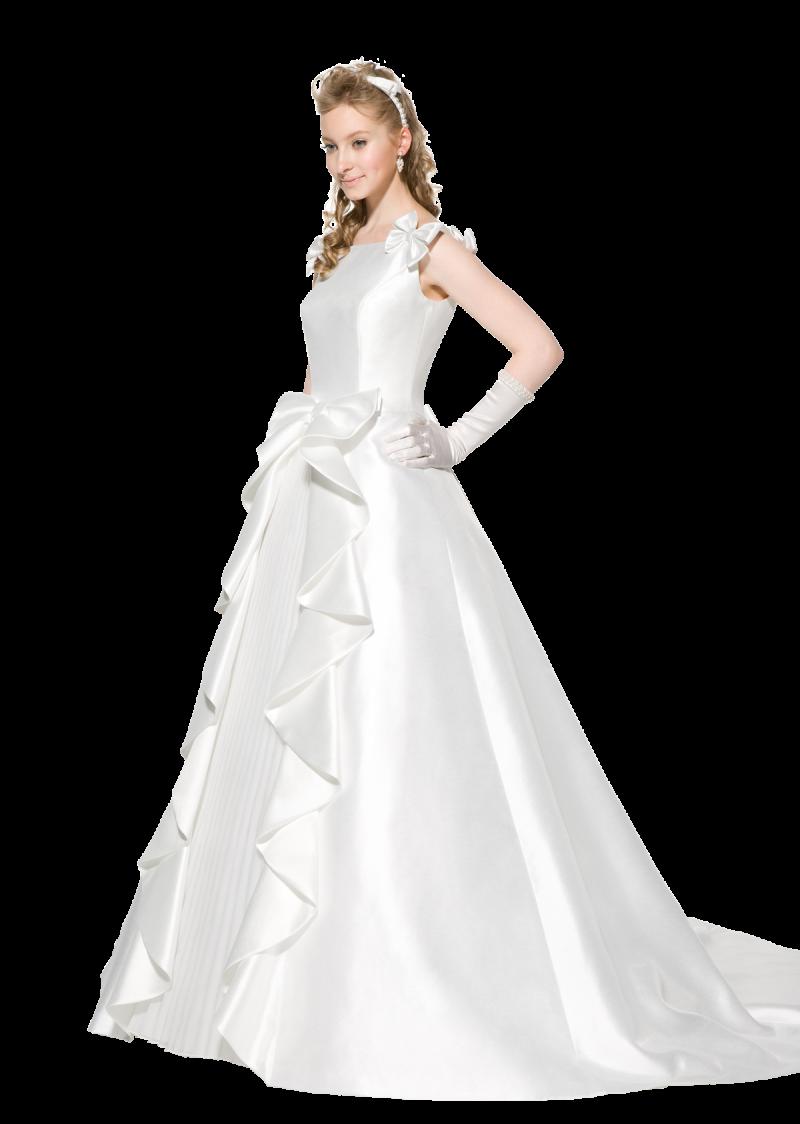 Bride Wear Beautiful White Dress PNG Image