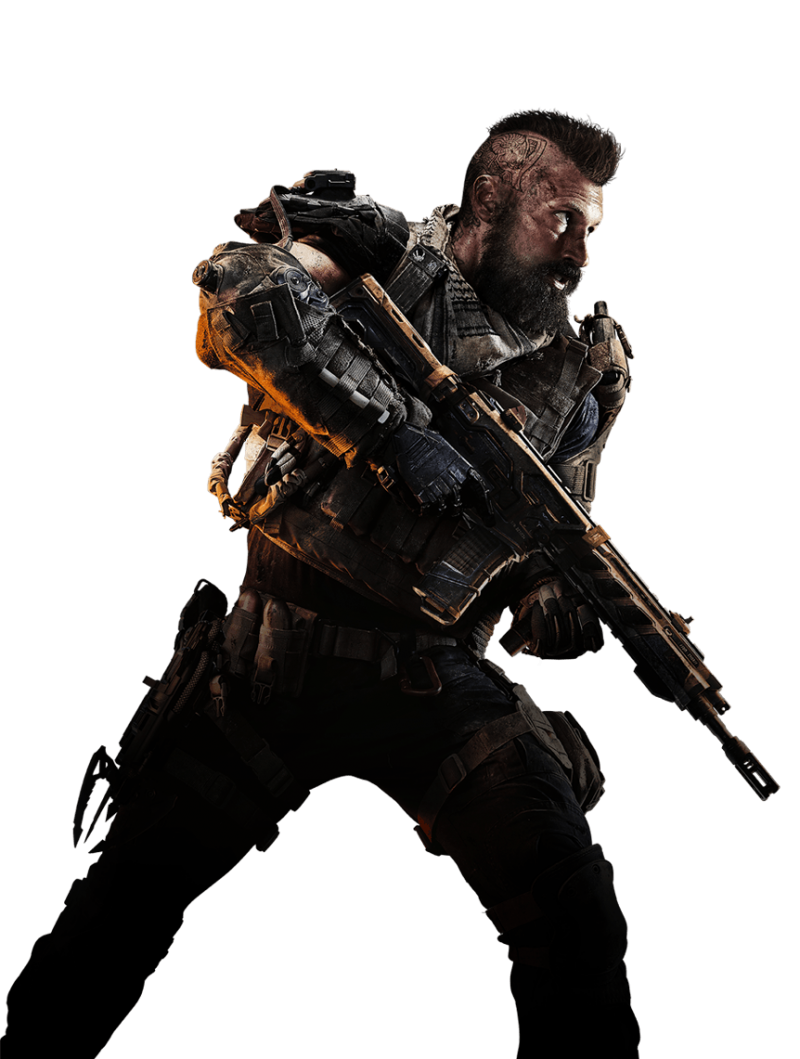 Call of Duty: Black Ops 4 Center Soldier PNG Image