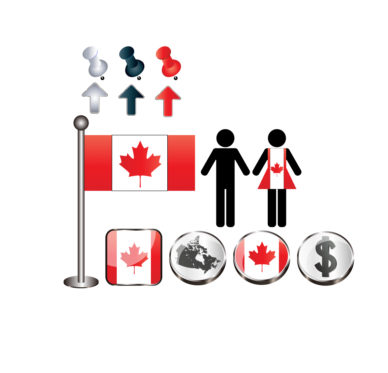 Signs and Symbols of Canada PNG Image