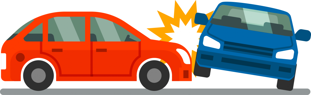 Car hitting another Car PNG Image