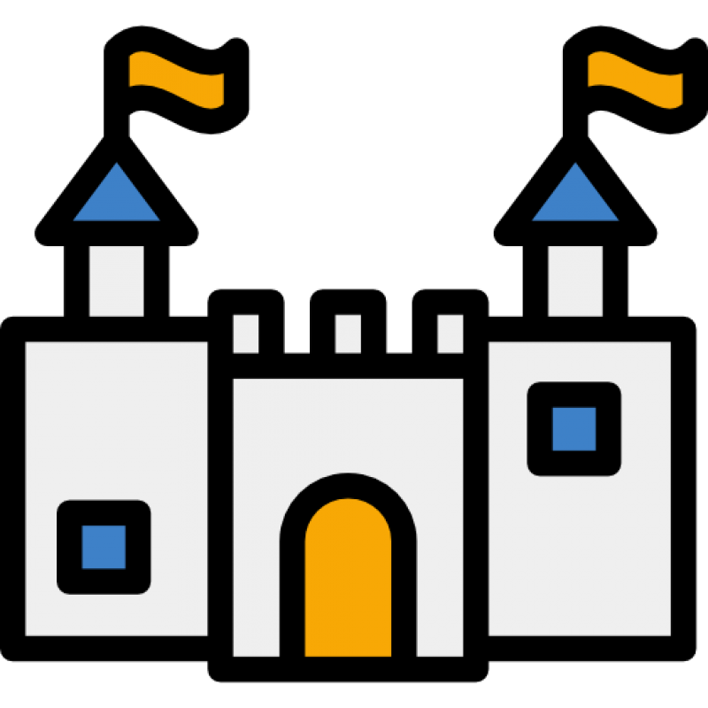 Drawing of a Castle PNG Image