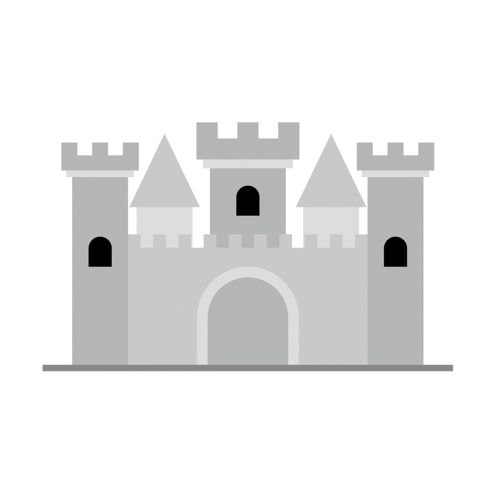 Artist Impression of a Castle PNG Image