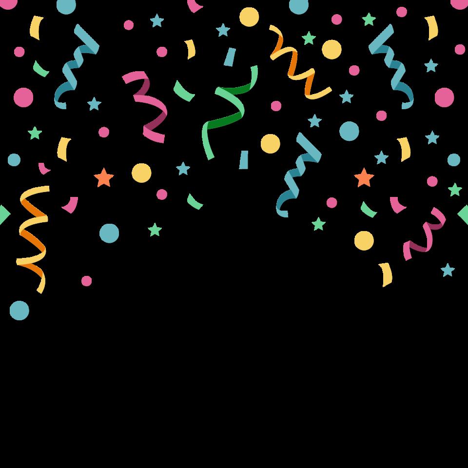 Celebration Confetti PNG Image