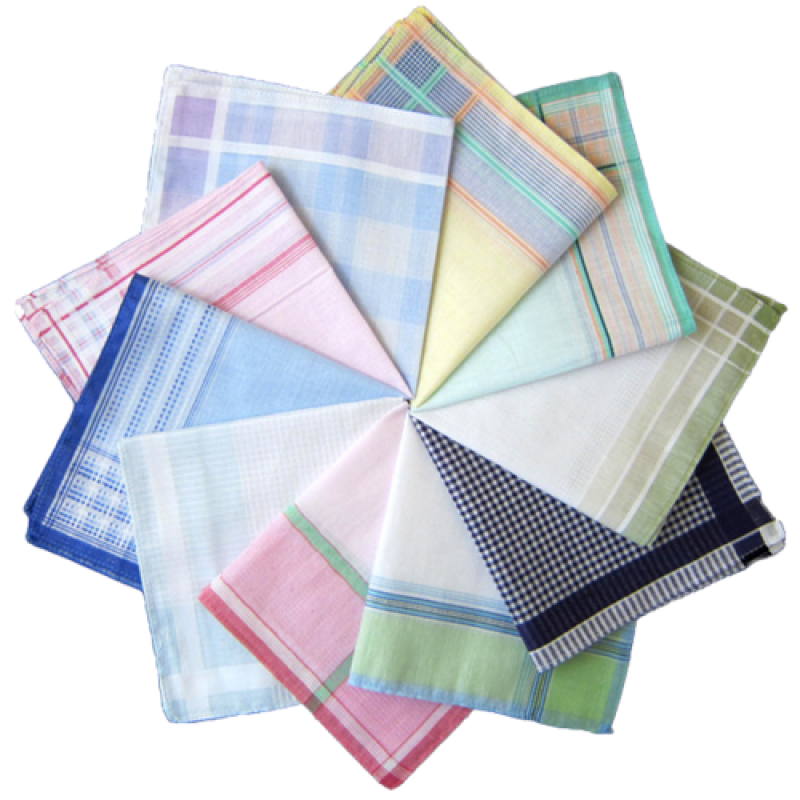 Checkered cotton handkerchief PNG Image