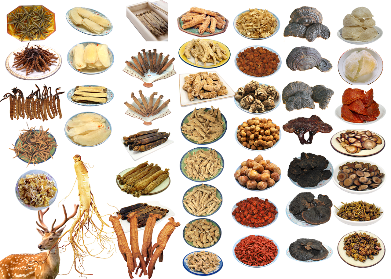 Chinese Food Ingredients PNG Image