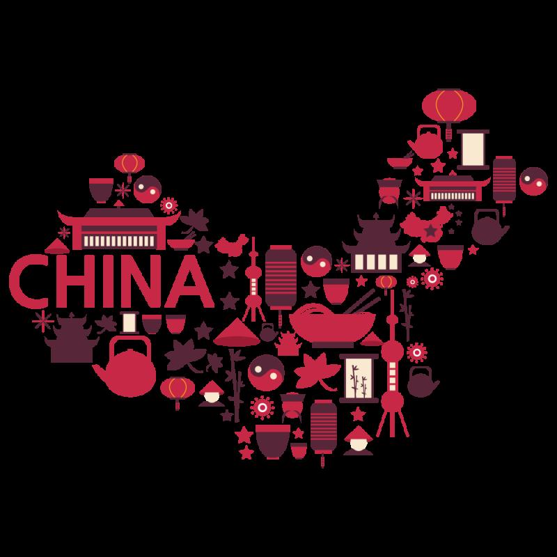 Symbols of China - China Map PNG Image