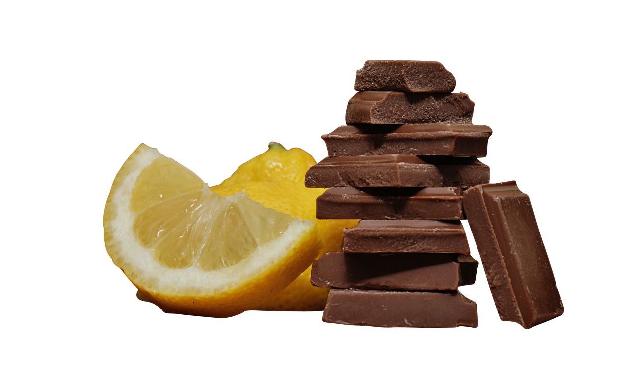 Choclate Stack with Lemon PNG Image
