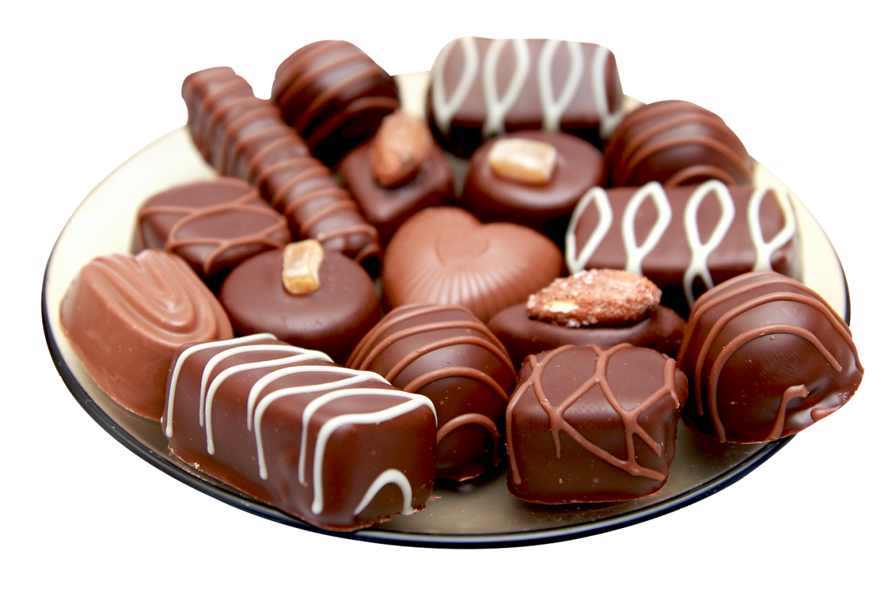 Chocolates in a Plate PNG Image