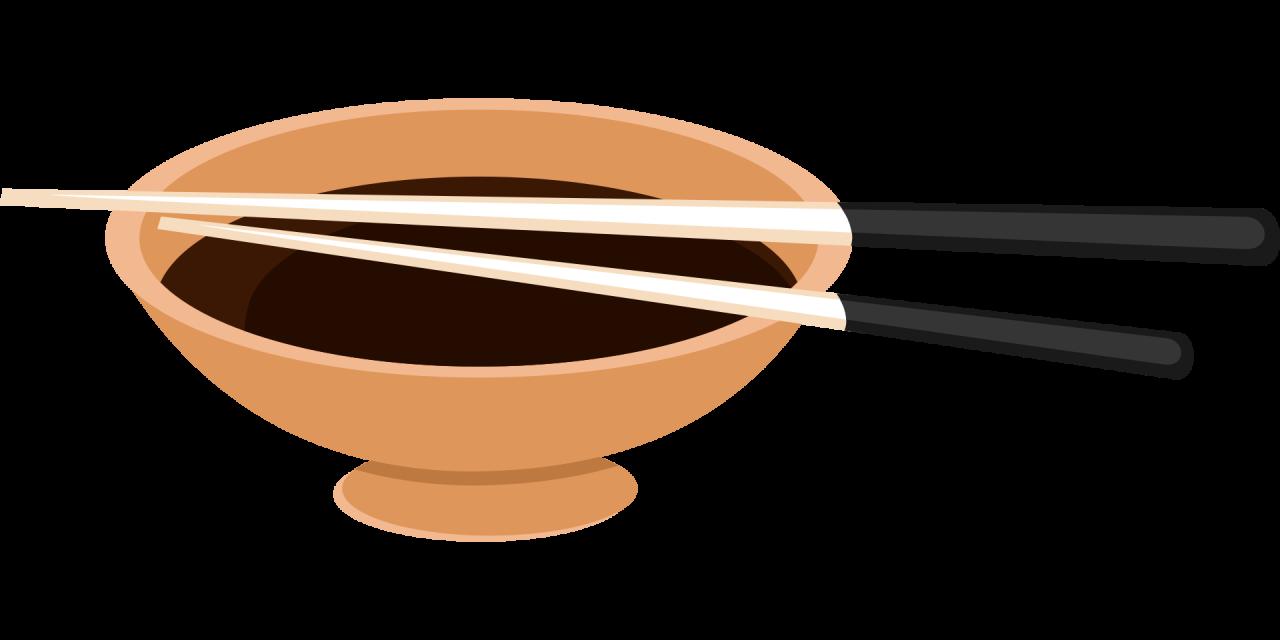 Chopsticks on a Bowl PNG Image