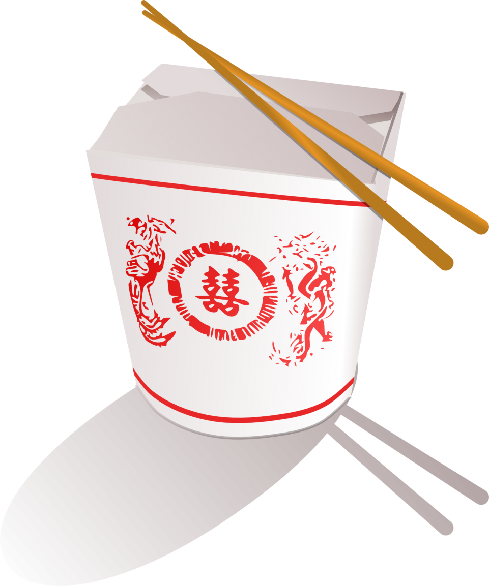 Chopsticks on a Noodles Box PNG Image
