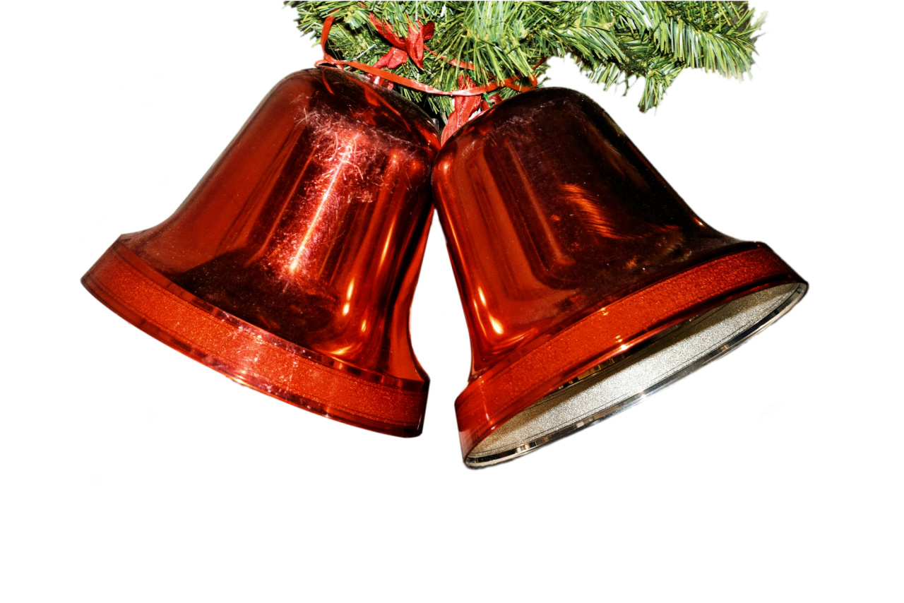 Red Christmas Bell PNG Image