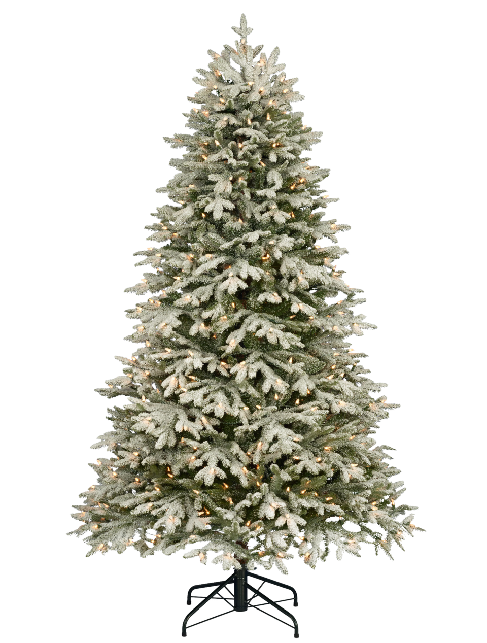Traditional Christmas Tree with Snow PNG Image