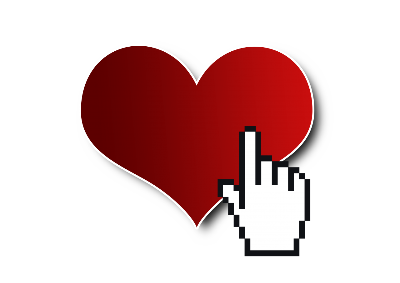 Click on Heart PNG Image