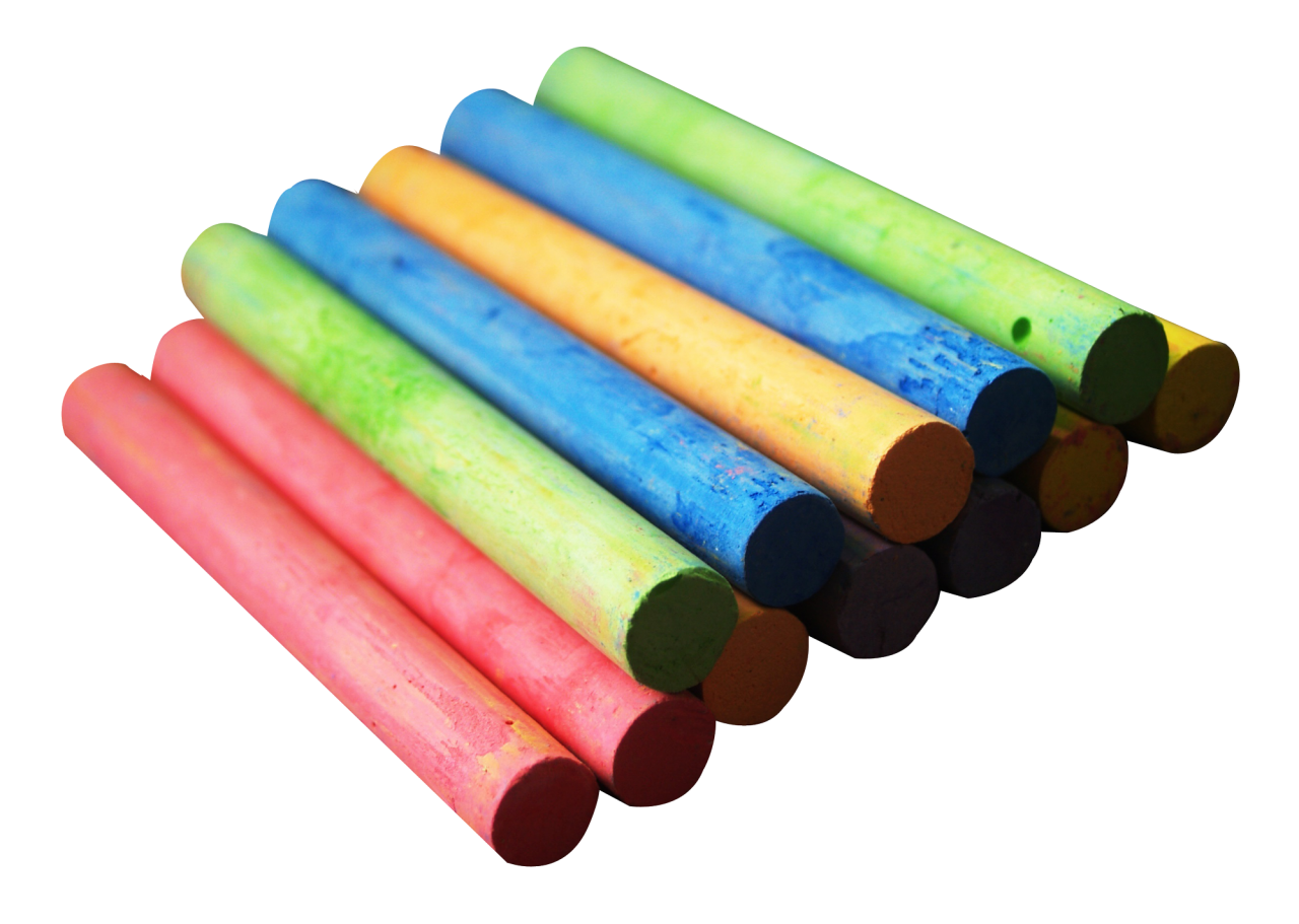 Color Chalk Pieces PNG Image