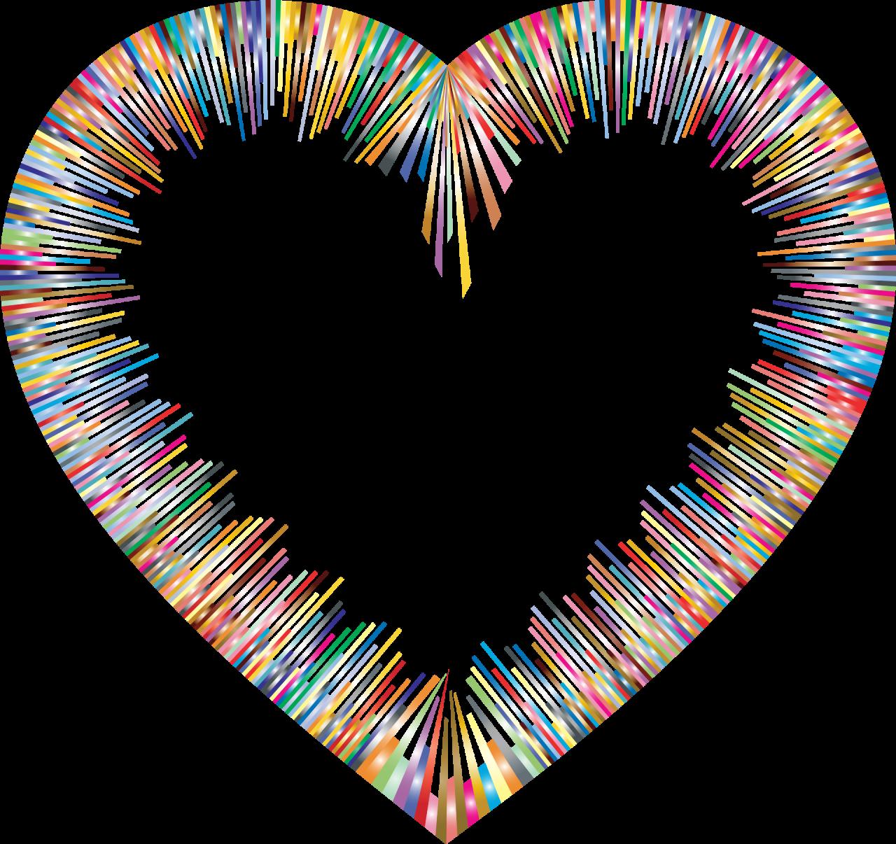 Color Spectrum Heart Shape PNG Image