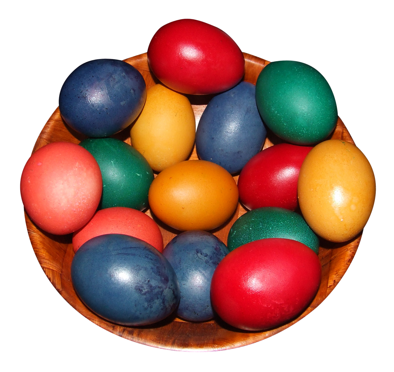 Colorful Eggs in a Pot PNG Image