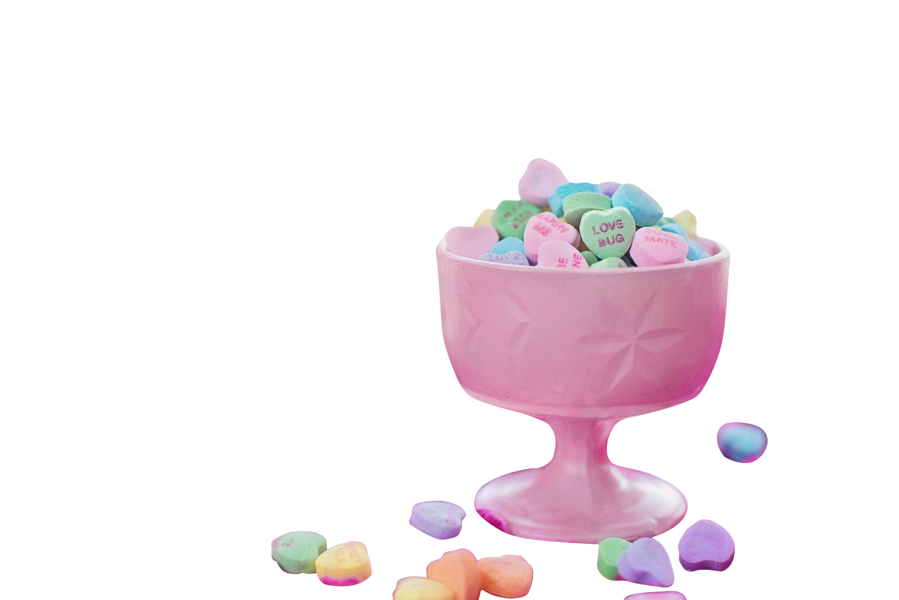 Colorful heart candies PNG Image