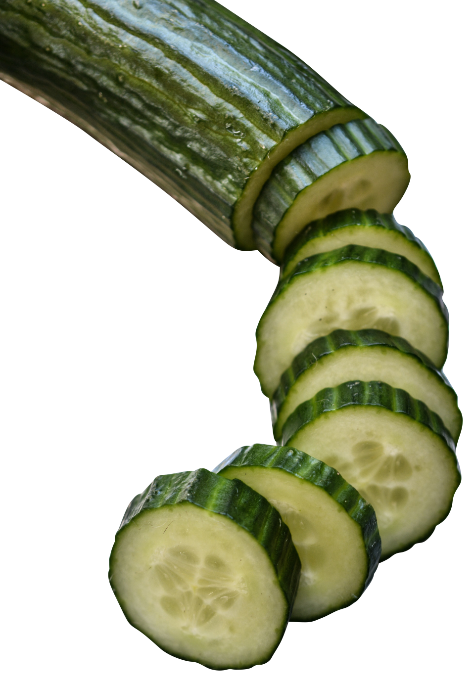 Cucumber in slices PNG Image