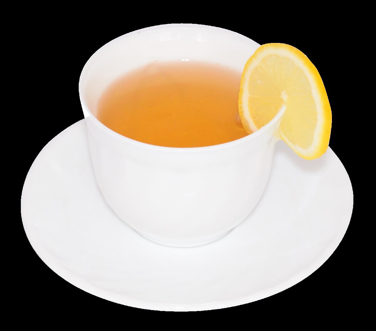 Cup of Lemon Green Tea PNG Image