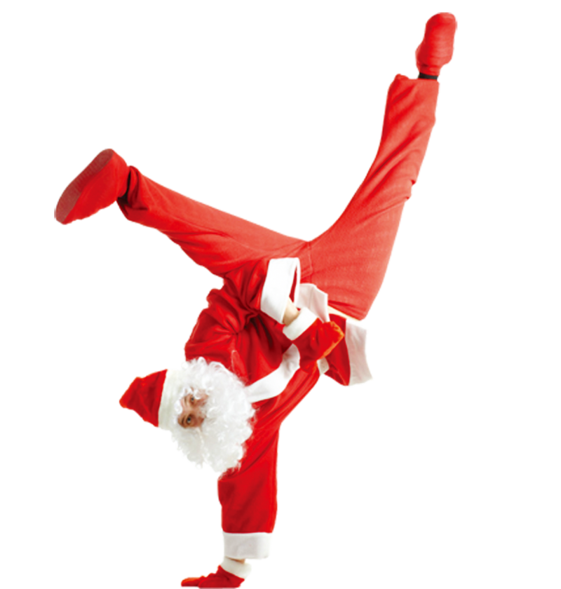 Dancing Santa Claus PNG Image
