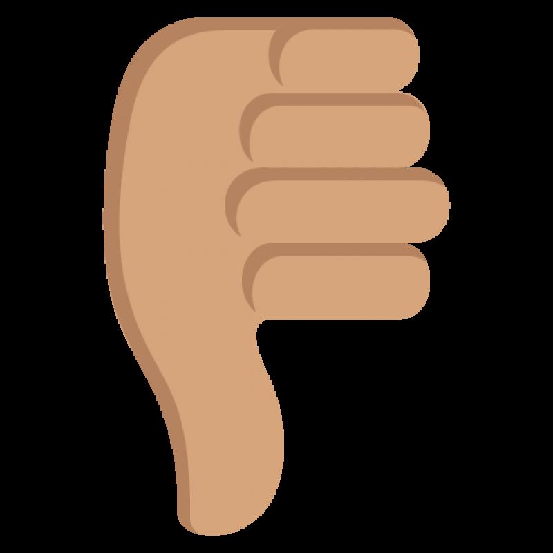 Dislike Symbol Emoji Pointing down PNG Image