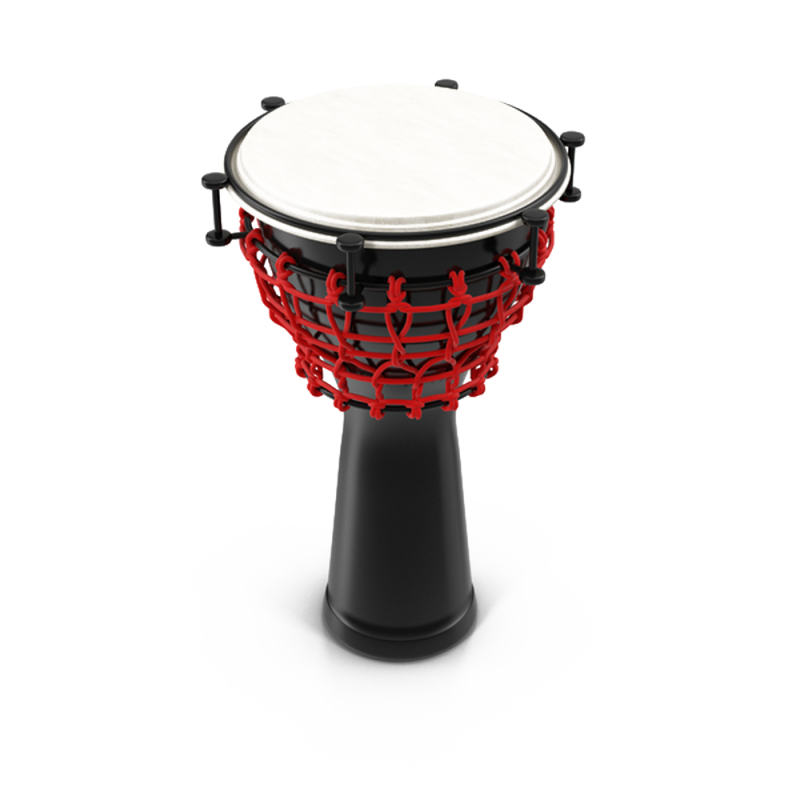 Black Red and White Percussion PNG Image