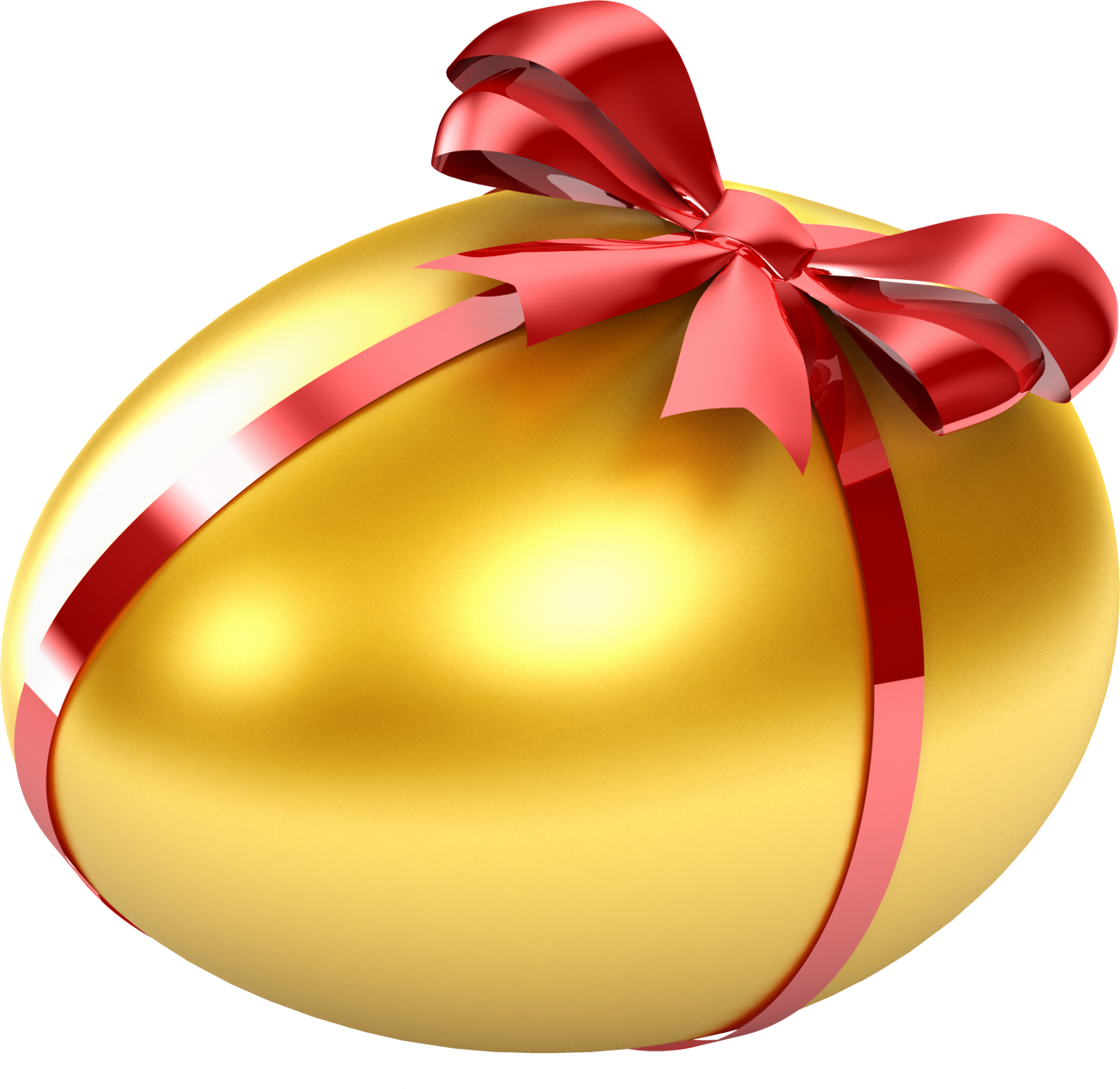 Egg Wrapped  in Red Ribbon PNG Image