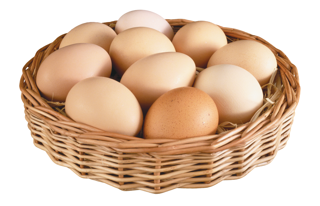 Eggs in Basket PNG Image