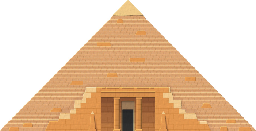 Two Dimensional Pyramid - Egypt PNG Image