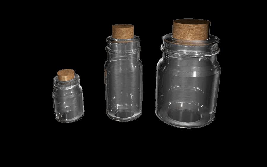 Empty Medicine Bottles PNG Image