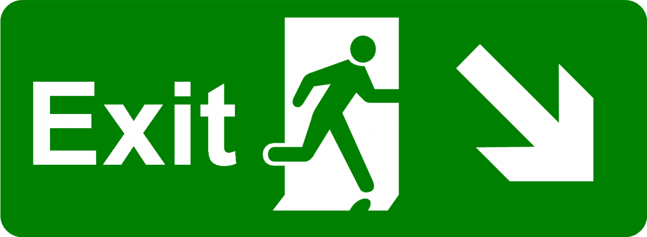 Exit Sign Green PNG Image