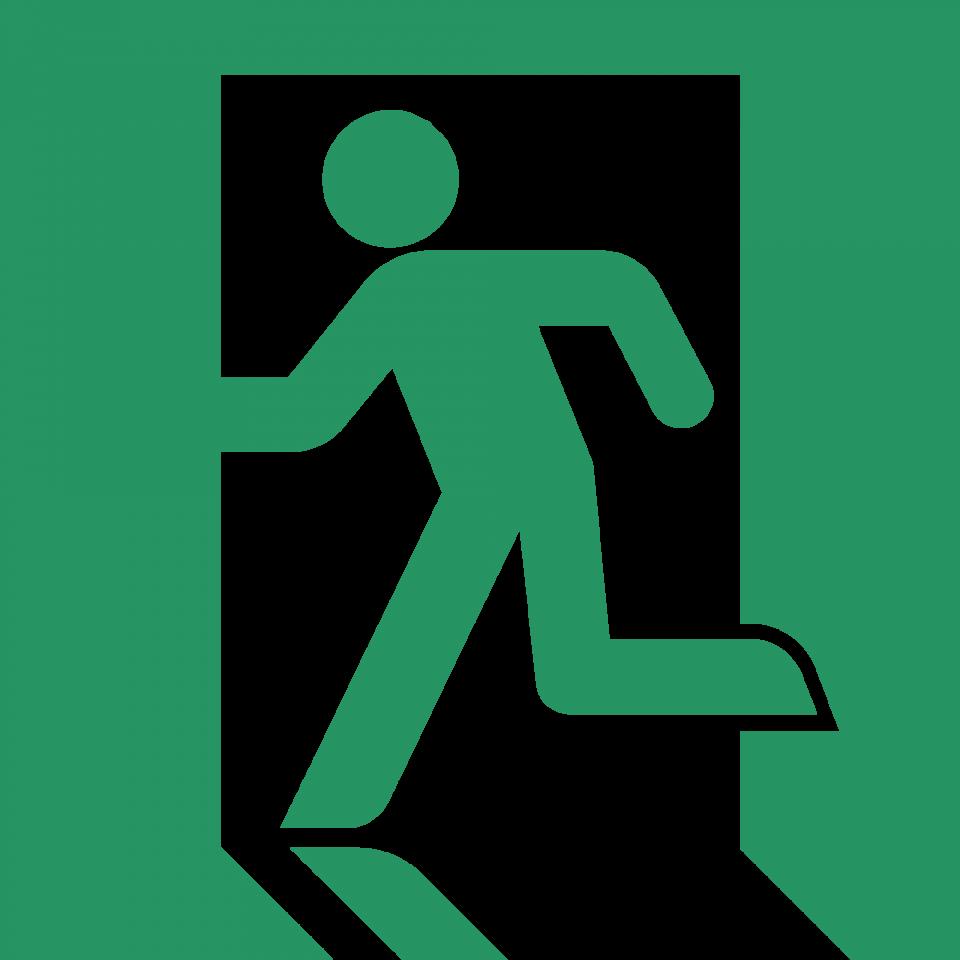 Exit Symbol Green PNG Image