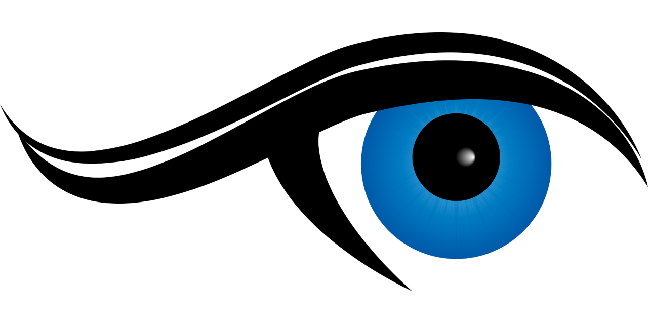 Eye Ball in Blue Color PNG Image