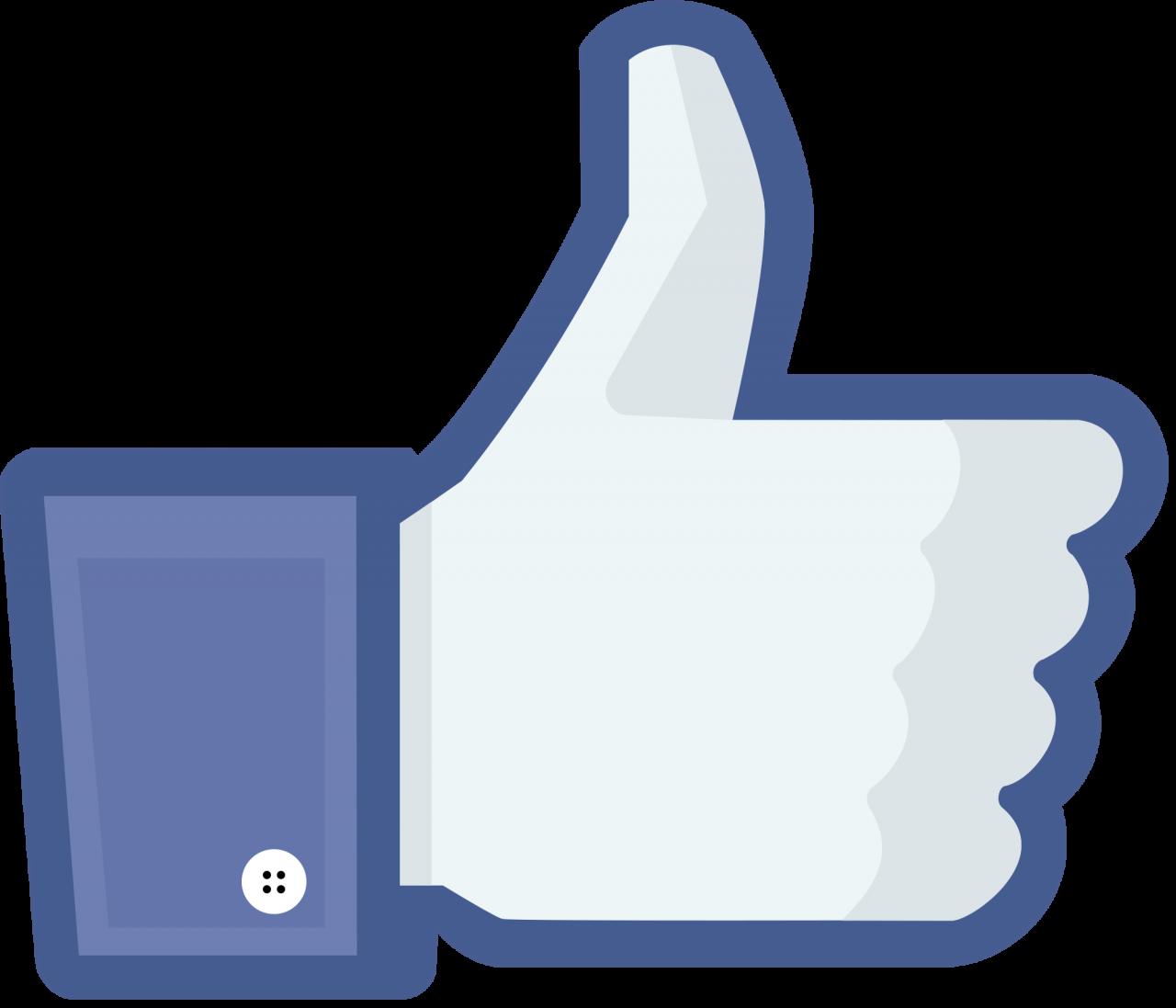 Facebook Like modern PNG Image