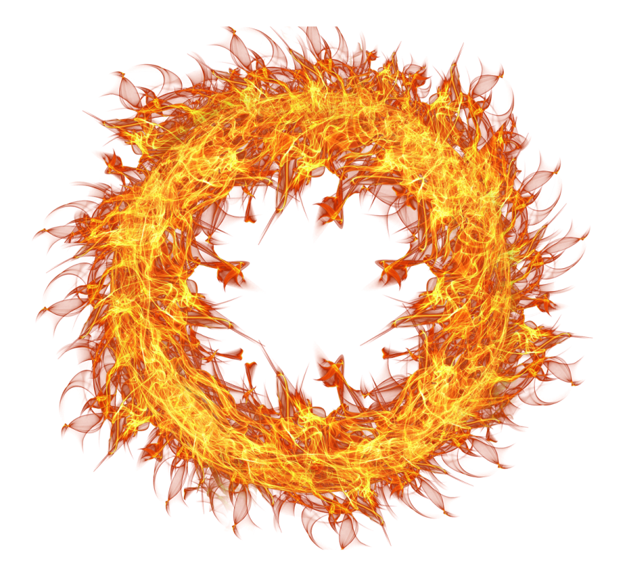 Fire Flame Circle PNG Image