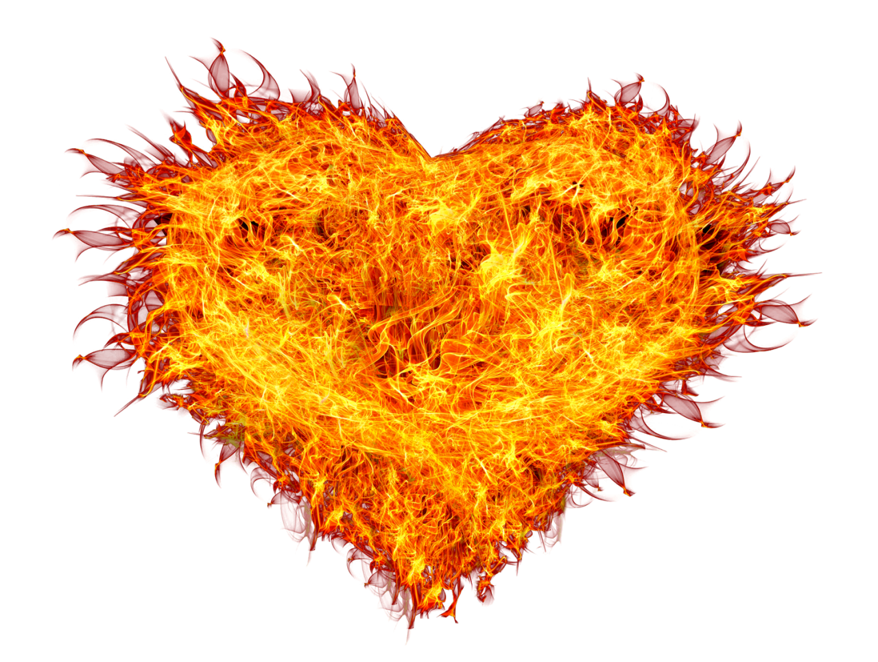 Fire Heart PNG Image