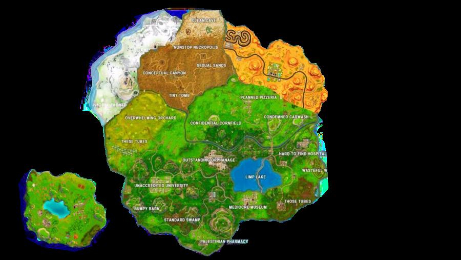 Fortnite New Season 7 Map PNG Image